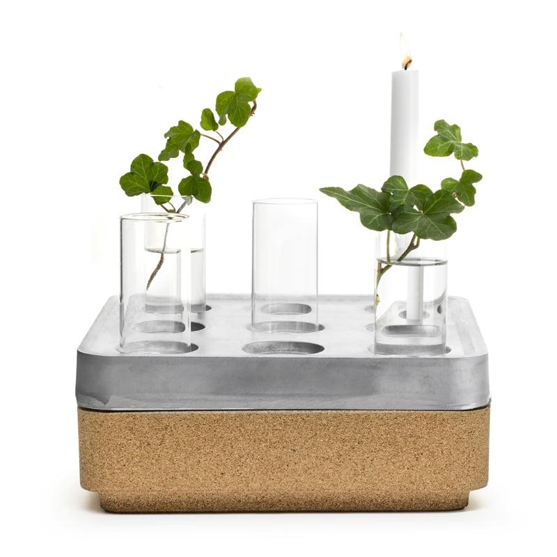 Stumpastake S, korkskål natur, 4-pack vaser samt tändsticksask